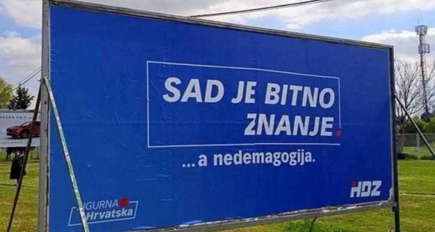 Greška na predizbornom plakatu nasmijala je mnoge, oglasio se HDZ: 'To nije radio nitko iz stranke'
