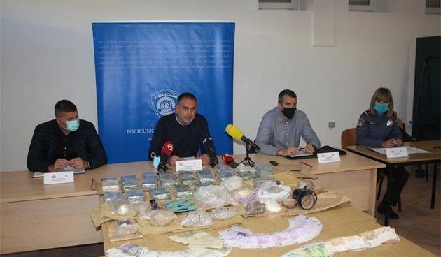 Heroin, amfetamin, novac, zapljena droge u Istri 15.6.2021.