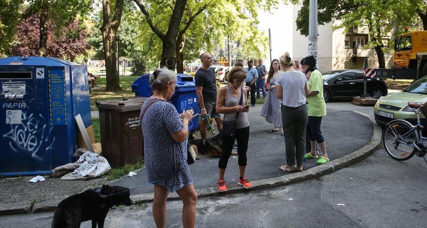 Pobuna stanara na zagrebačkoj Knežiji, posla je imala i policija: 'Ne damo im da postave odašiljač na našu zgradu. To je kriminal!'