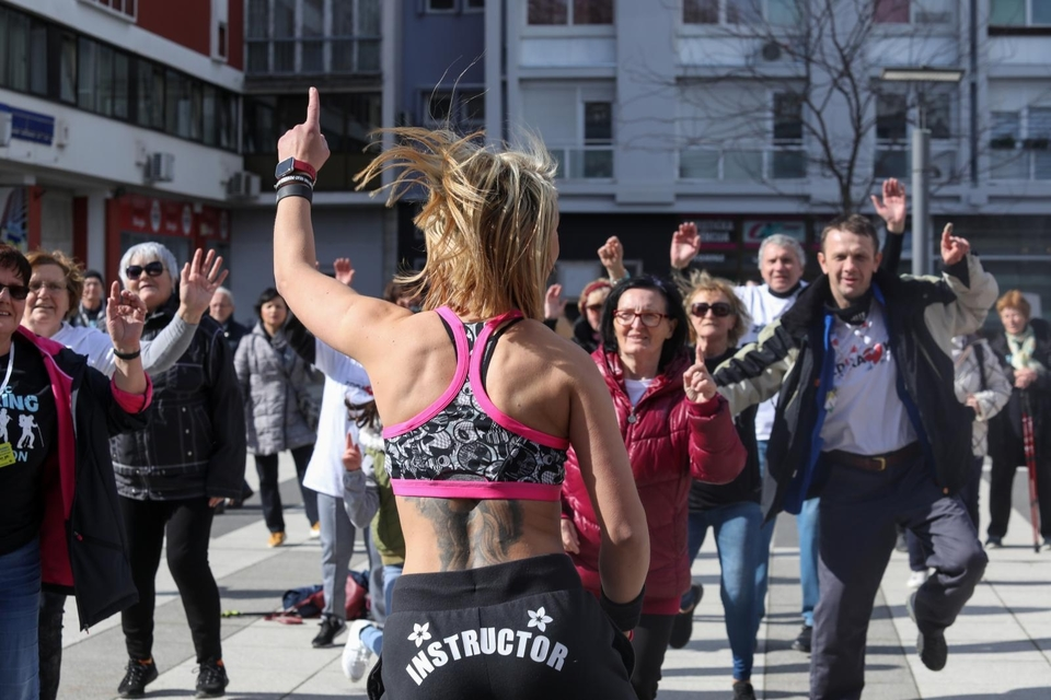 Zumba na Trgu Slobode