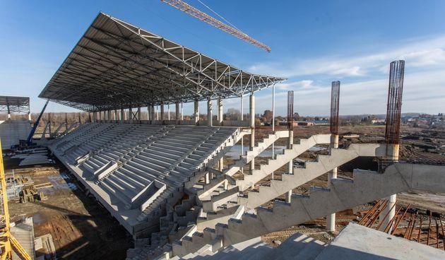 Radovi na izgradnji stadiona Pampas, siječanj 2021.
