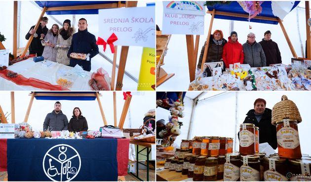 Raznovrsna ponuda na Božićnom sajmu ispod grijanog šatora u Prelogu