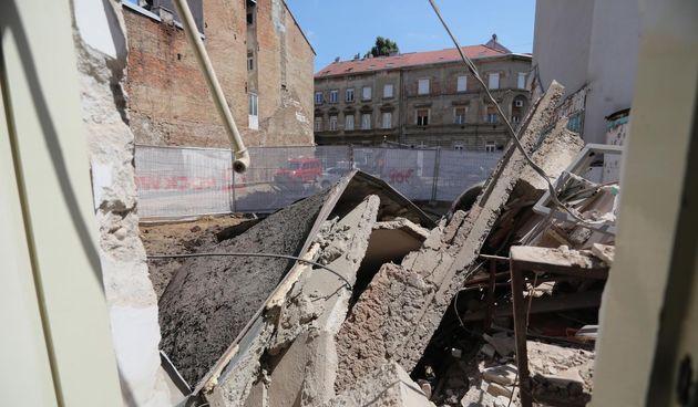 U centru Zagreba urušio se dio zgrade u kojem je bio atelijer kipara Kujundžića