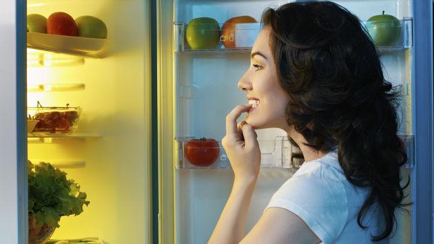 hladnjak, hrana, žena