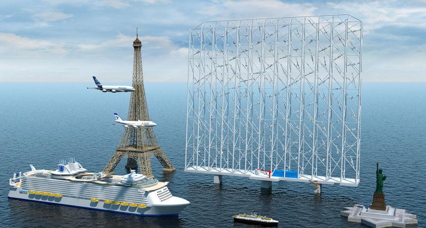 Hvatač vjetra: Bit će velik poput Eiffelovog tornja, a strujom će opskrbljivati čak 80.000 kućanstava!