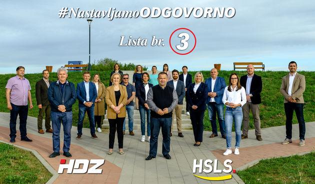 Lista HDZ - HSLS za Gradsko vijeće Grada Karlovca je pobjednička lista
