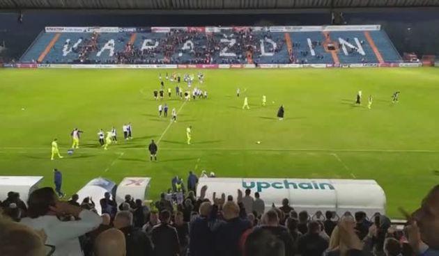Završetak utakmice Varaždin - Dinamo i proslava na tribinama (thumbnail)