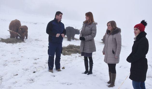 Predstavnice županijske vlasti u posjetu OPG Kovač iz Jaškova, poznatom po uzgoju škotskog goveda i povlačenju europskih sredstava