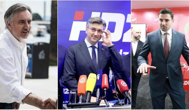 Škoro, Plenković i Bernardić