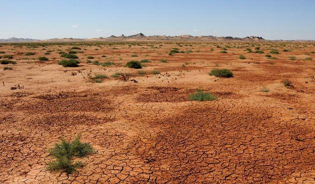 Pustinja na granici Mongolije i Kine