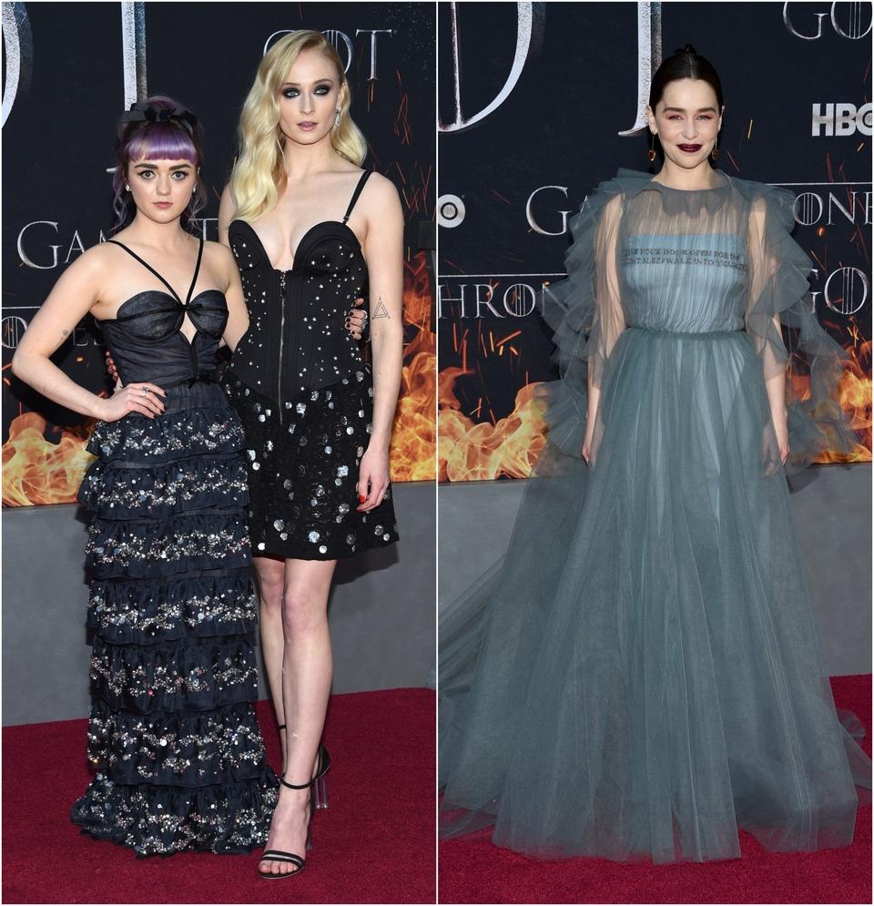 Sophie Turner, Maisie Williams i Emilia Clarke