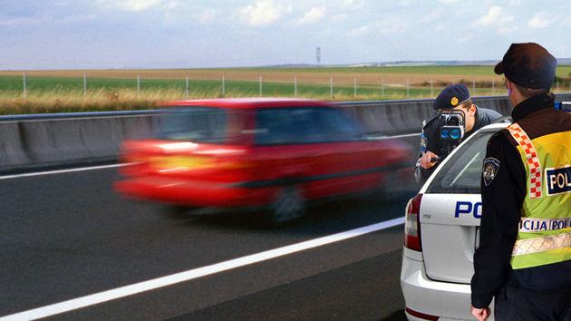 Policija, brzina, auto
