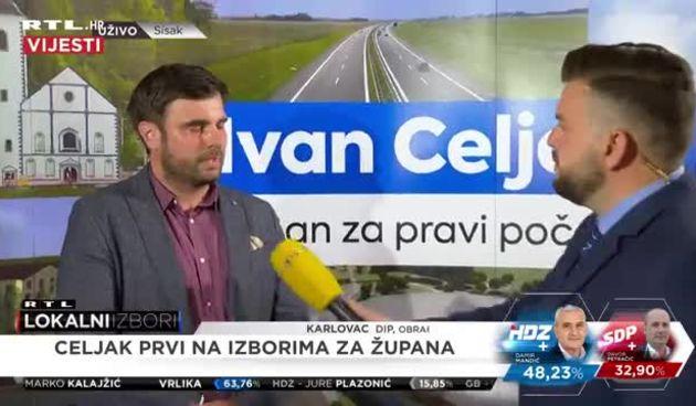 Kandidat za župana Siskačko-moslavačke županije Ivan Celjak o prvim rezultatima lokalnih izbora (thumbnail)