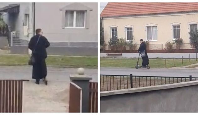Nasmijao čitavu regiju: Mladi pop iz Srbije posvećuje kuće na eletkričnom romobilu