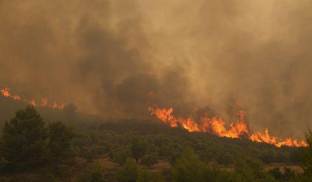 Atena, požar