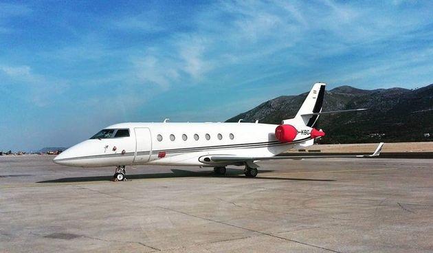 Ronaldov avion u Dubrovniku