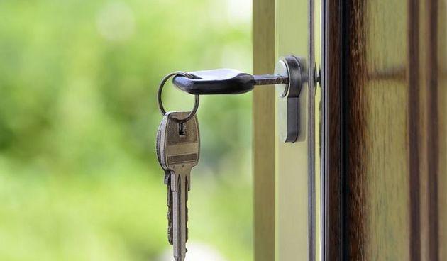 Nekretnine, stan, ključ, ulaz, vrata