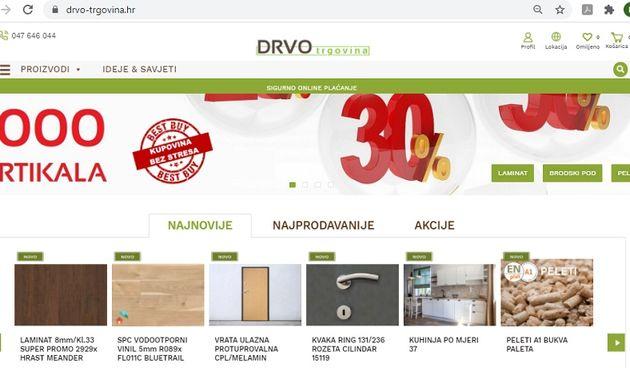 Novi webshop drvnog centra Drvona – brzo i jednostavno kupujte iz udobnosti vlastitog doma