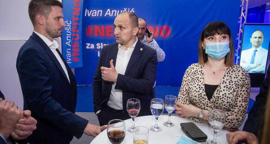 Izbori za župana OBŽ: Anušić uvjerljivo vodi, drugog kruga čini se neće biti