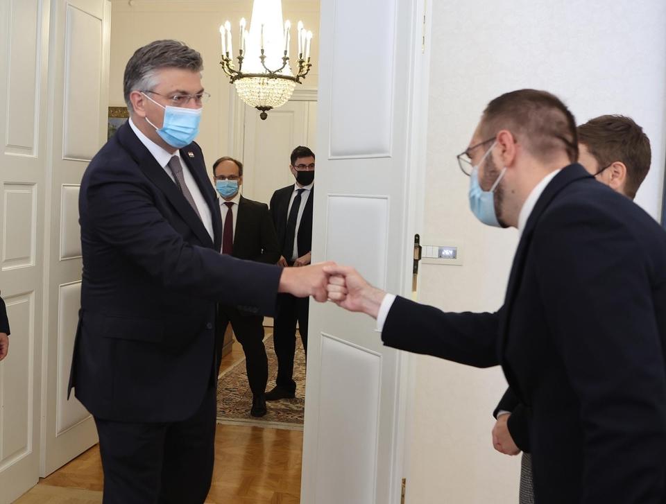 Andrej Plenković i Tomislav Tomašević