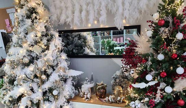 Božićni ukrasi u Floristi