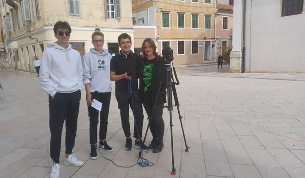 Mladi Zadrani, medijski tehničari, anketa, snimanje, učenici Prirodoslovno graficka skola