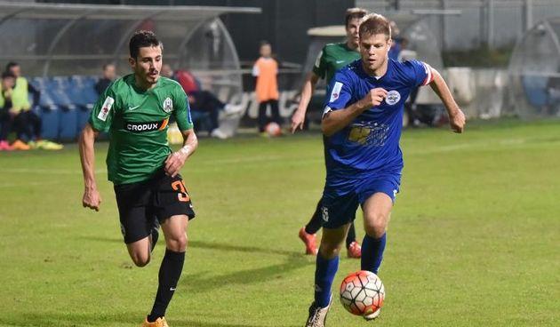 Šime Gržan i Jure Jerbić. NK Zadar - NK Lokomotiva. Photo: Dino Stanin/PIXSELL