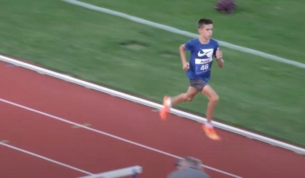 Mladi karlovački atletičar Matko Belčić prvi na 1500 sa zaprekama na atletskom dvoboju kadeta Hrvatske i Slovenije