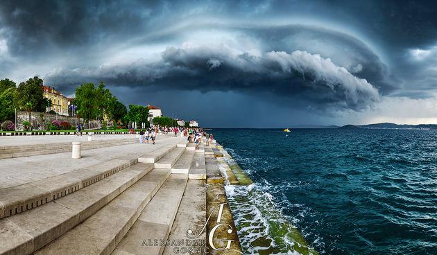 Shelf oblak nevera oluja kiša