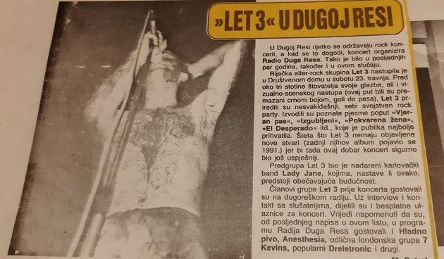 Let 3 se vraća u Dugu Resu - pronašli smo članak iz 1994., evo kakav su show tada napravili u Društvenom domu