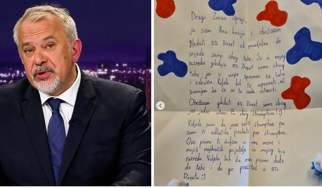 Šprajc nije mogao dobiti bolji poklon: 'Ovo pismo ti šaljem u ime mene i mojih najdražih prijatelja iz mojeg 6. c razreda'