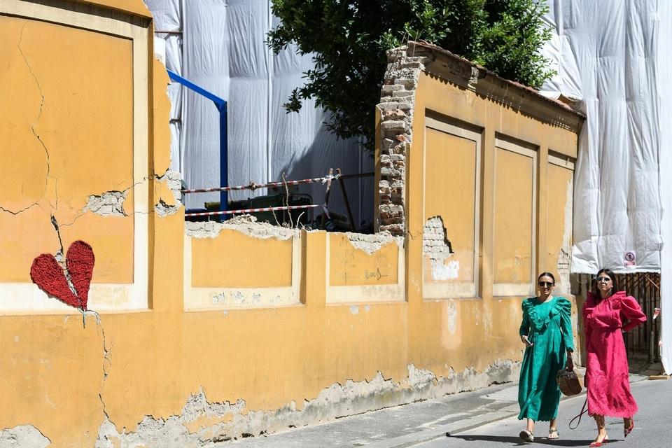 Radovi na obnovi Gimnazije Tituša Brezovačkog nakon potresa