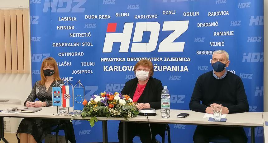 HDZ obilježio 31. godišnjicu osnutka u Karlovačkoj županiji, na video vezi bio i predsjednik HDZ-a Andrej Plenković