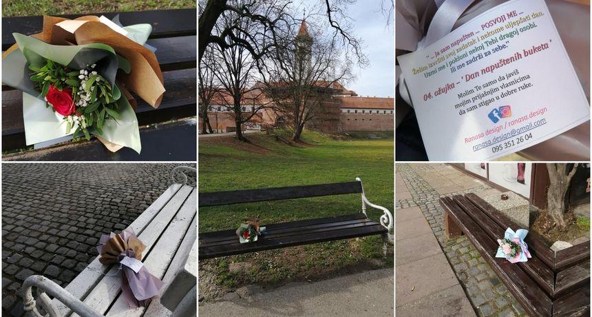 FOTO Uljepšala dan Međimurcima: Tara Lukman ostavila 'napuštene' bukete u centru Čakovca