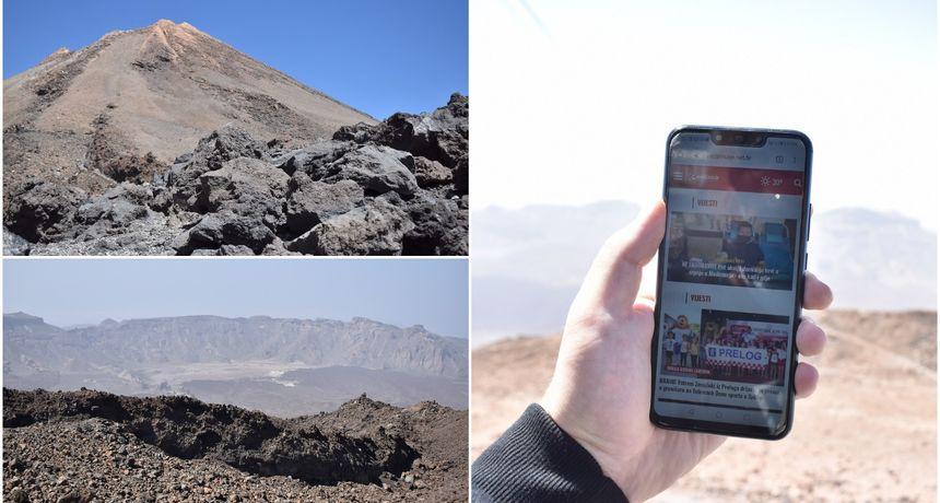 FOTO Znate li da se portal eMedjimurje može čitati i na 3500 m nadmorske visine?