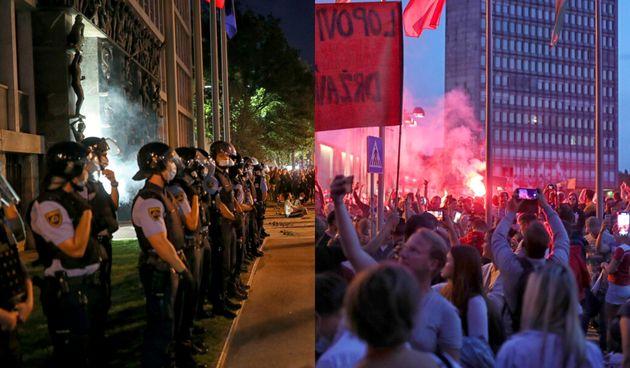 Slovenija, prosvjed