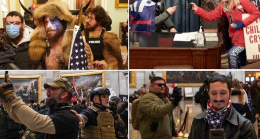 Policija objavila fotografije Trumpove rulje za kojima traga nakon nasilnog upada u Kapitol. U cijelu priču uključio se i FBI
