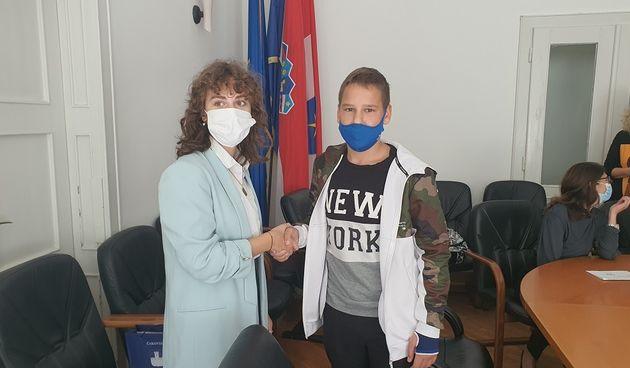 GRAD ČAKOVEC Novi dječji gradonačelnik je Roan Posavec, učenik 8. razreda OŠ Kuršanec