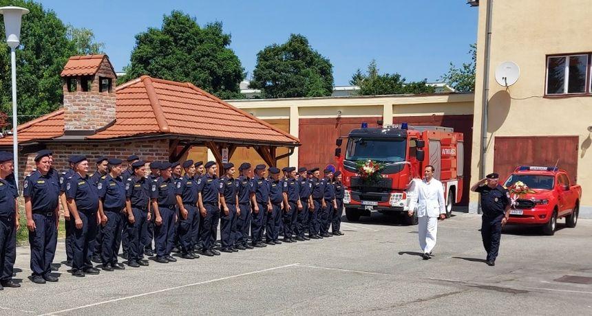 Gradonačelnik Bosilj u posjeti Javnoj vatrogasnoj postrojbi Varaždin