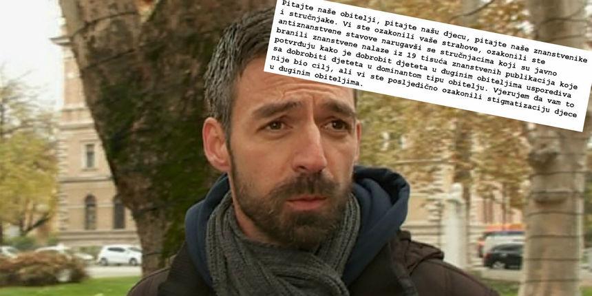 Tuže Hrvatsku i uputili 'čestitku' Vladi: 'Ozakonili ste stigmatizaciju djece u duginim obiteljima'
