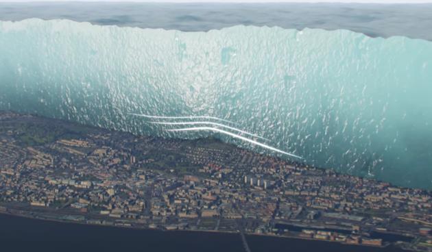 Ledenjak, Škotska, simulacija