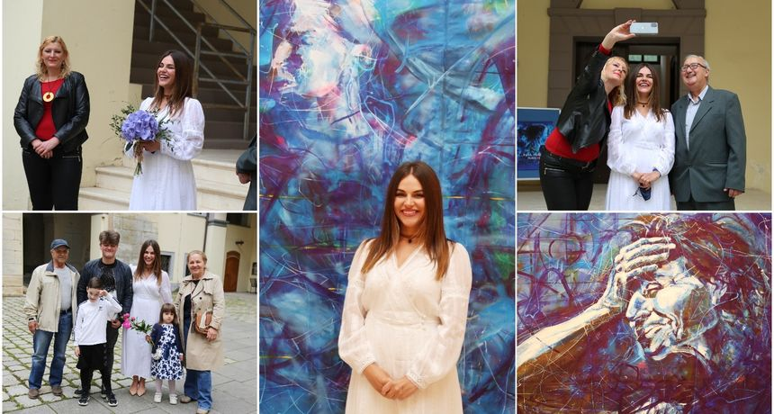 VIDEO I FOTO Izložba 'Plave i crvena' Ruse Trajkove u Muzeju Međimurja Čakovec