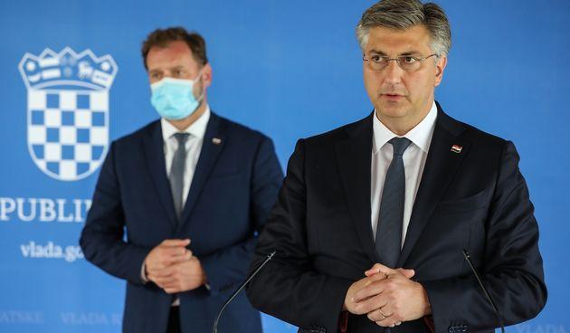 Andrej Plenković i Mario Banožić