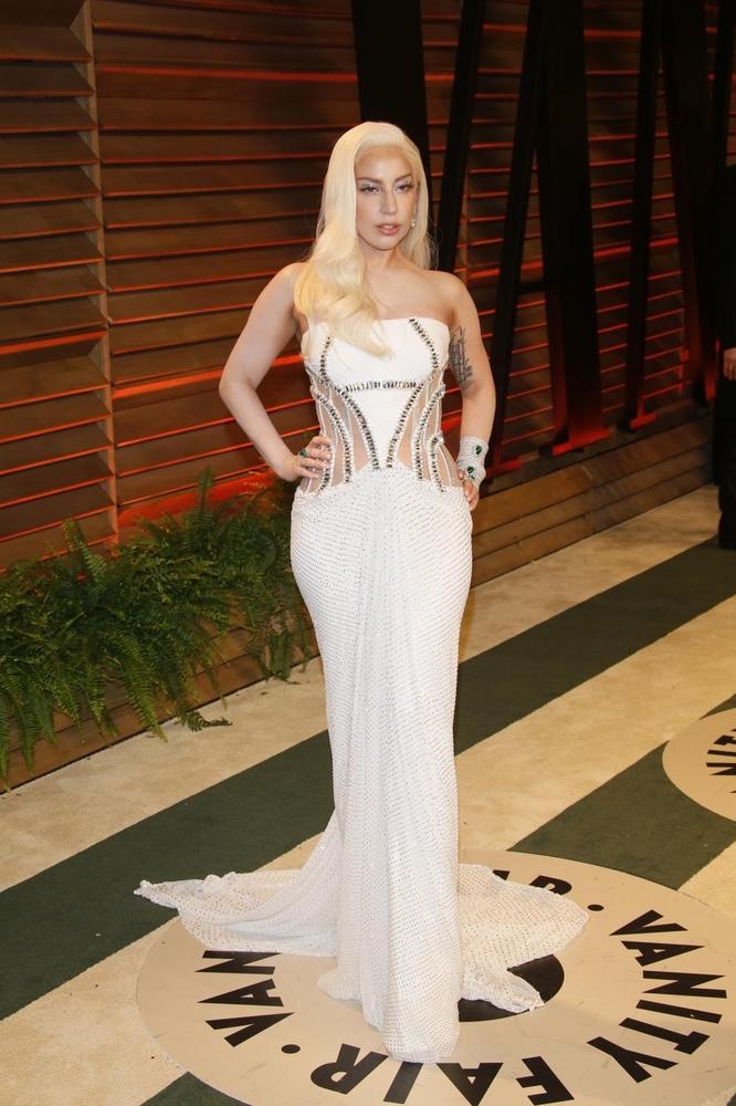 Lady Gaga na Vanity Fair tulumu nakon Oscara 2014.