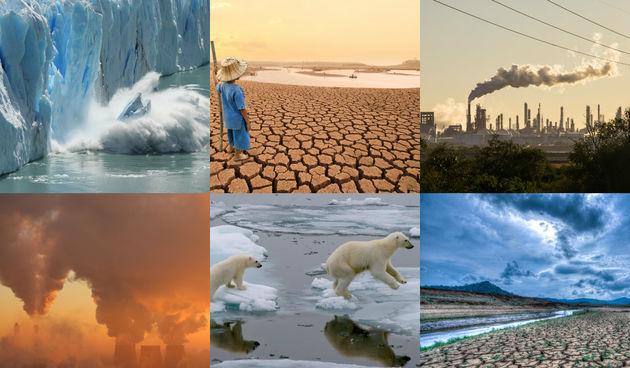 klimatske promjene kolaž