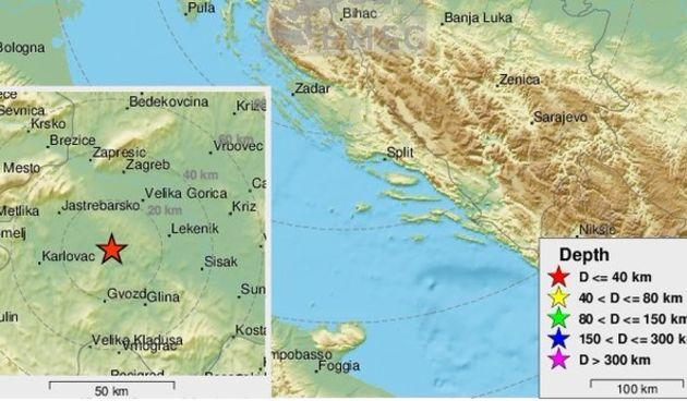 Dva manja potresa probudila građane središnje Hrvatske - epicentar jednog samo 29 kilometara od Karlovca