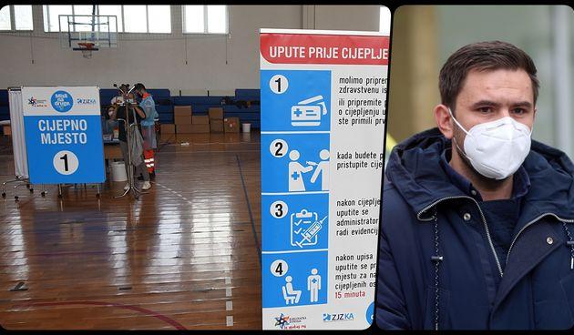 U Karlovačkoj županiji od jučer masovno cijepljenje, u dvorani Ekonomske škole cijepi se svaki dan. Zoretić: Plan je dnevno cijepiti 800 do 1.000 ljudi