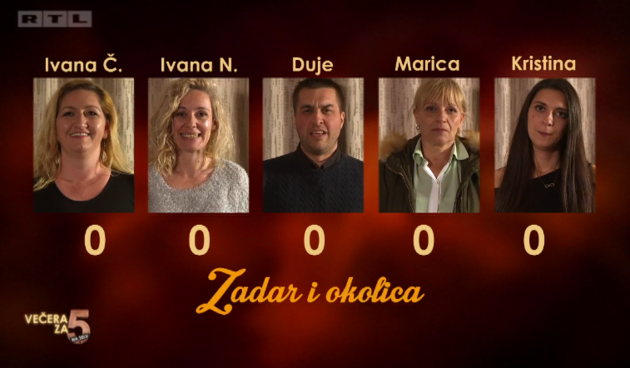 kandidati Zadar, Večera za 5 na selu