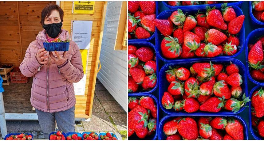KRALJICA VOĆA U centru Čakovca možete nabaviti slatke i sočne jagode iz doline Neretve