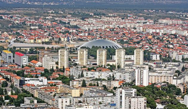 Zadar - Zračne snimke - Pet Nebodera, Voštarnica (foto: Marin Gospić)